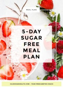 sugar-free meal plan prediabetes diabetes
